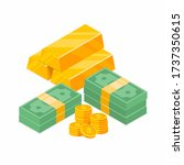 stack of cash symbol flat style ...   Shutterstock .eps vector #1737350615