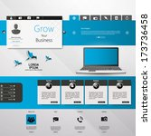 web design  elements  buttons ... | Shutterstock .eps vector #173736458