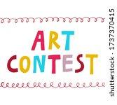 """art contest"" sign. fun multi...   Shutterstock .eps vector #1737370415"