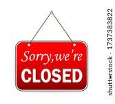 sign on door  great design for... | Shutterstock .eps vector #1737383822