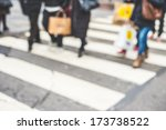 blurred city and people urban...   Shutterstock . vector #173738522