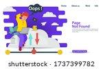 banner  oops  404 error  page...   Shutterstock .eps vector #1737399782
