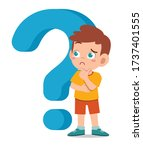 happy cute little kid boy with... | Shutterstock .eps vector #1737401555