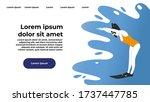website template of female... | Shutterstock .eps vector #1737447785