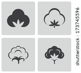 vector black cotton icons set... | Shutterstock .eps vector #173745596