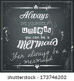 retro quote on a black... | Shutterstock . vector #173746202