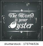retro quote on a black... | Shutterstock .eps vector #173746526