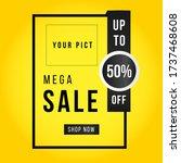 vector illustration of a sale... | Shutterstock .eps vector #1737468608