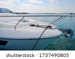 Motor Boat Bow With Anchor ...