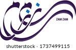 zam zam written in arabic... | Shutterstock .eps vector #1737499115