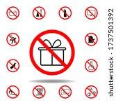 forbidden gift icon on white...