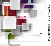 overlapping squares background | Shutterstock .eps vector #173751062