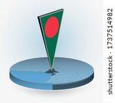 bangladesh map in round... | Shutterstock .eps vector #1737514982