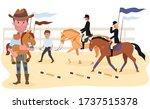 business plan for equestrian...   Shutterstock .eps vector #1737515378