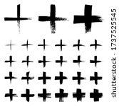 set of plus symbols. sign in... | Shutterstock .eps vector #1737525545