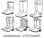 Set Of Different Boots....