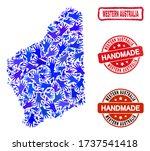 vector handmade composition of... | Shutterstock .eps vector #1737541418