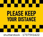 please keep your distance...   Shutterstock .eps vector #1737541622