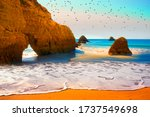 Beach In  Portimao Is A...