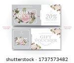 set of drawing gift vouchers...   Shutterstock .eps vector #1737573482