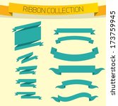 set of retro ribbons and labels.... | Shutterstock .eps vector #173759945