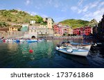 vernazza village in a summer day | Shutterstock . vector #173761868