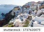 Greek Village On Volcanic...