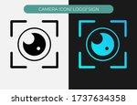 camera icon logo vector...