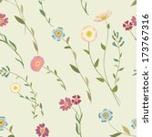 seamless floral background | Shutterstock .eps vector #173767316