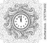 black and white new year vector ... | Shutterstock .eps vector #1737704102