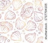 poppy petals vector seamless... | Shutterstock .eps vector #1737704105
