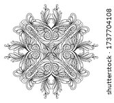 vector abstract black and white ... | Shutterstock .eps vector #1737704108