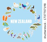new zealand icons and symbols.... | Shutterstock .eps vector #1737707198
