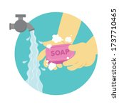 wash your hands. colorful...   Shutterstock .eps vector #1737710465