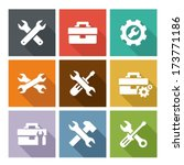 tools icons | Shutterstock .eps vector #173771186