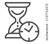 hourglass with clock line icon  ... | Shutterstock .eps vector #1737712472