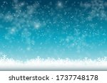 winter snowfall and snowflakes... | Shutterstock .eps vector #1737748178