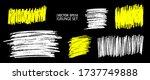 grunge pencil sketches set.... | Shutterstock .eps vector #1737749888