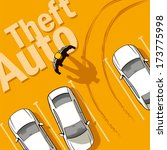 theft auto. the owner discovers ... | Shutterstock .eps vector #173775998