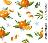 seamless pattern with oranges ... | Shutterstock .eps vector #1737763058