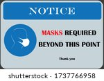 wear mask sign and symbol. wear ...   Shutterstock .eps vector #1737766958