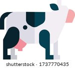 cow simple design  cow flat icon | Shutterstock .eps vector #1737770435
