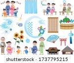 japanese traditional summer... | Shutterstock .eps vector #1737795215