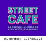 vector trendy logo street cafe...   Shutterstock .eps vector #1737801125