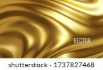 golden shiny liquid waves 3d... | Shutterstock .eps vector #1737827468