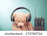 retro toy teddy bear with... | Shutterstock . vector #173783726