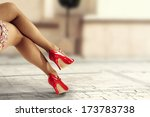 red shoes  | Shutterstock . vector #173783738