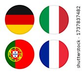 Set Of Round Icons Flags....