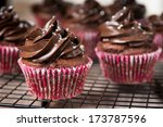 Chocolate Cupcakes On Cooling...