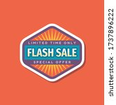 flash sale promotion banner... | Shutterstock .eps vector #1737896222